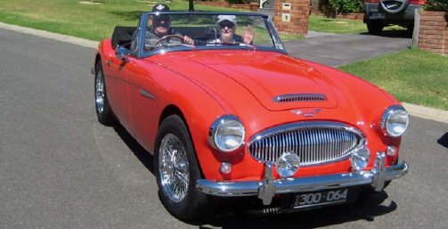 Rex and Deanna Hall's new Austin-Healey